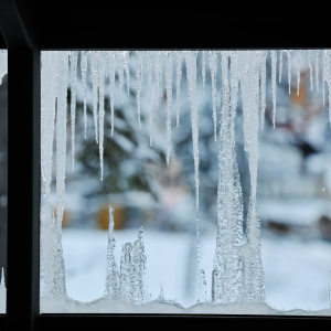 Ice over window